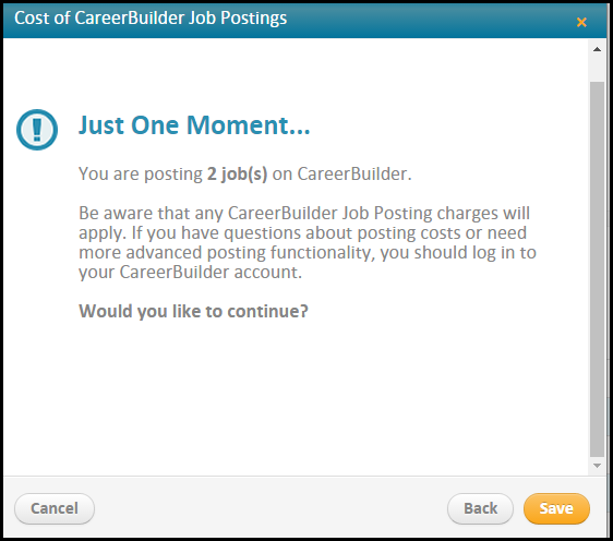 What kind of information should you include in a Career Builder job posting?