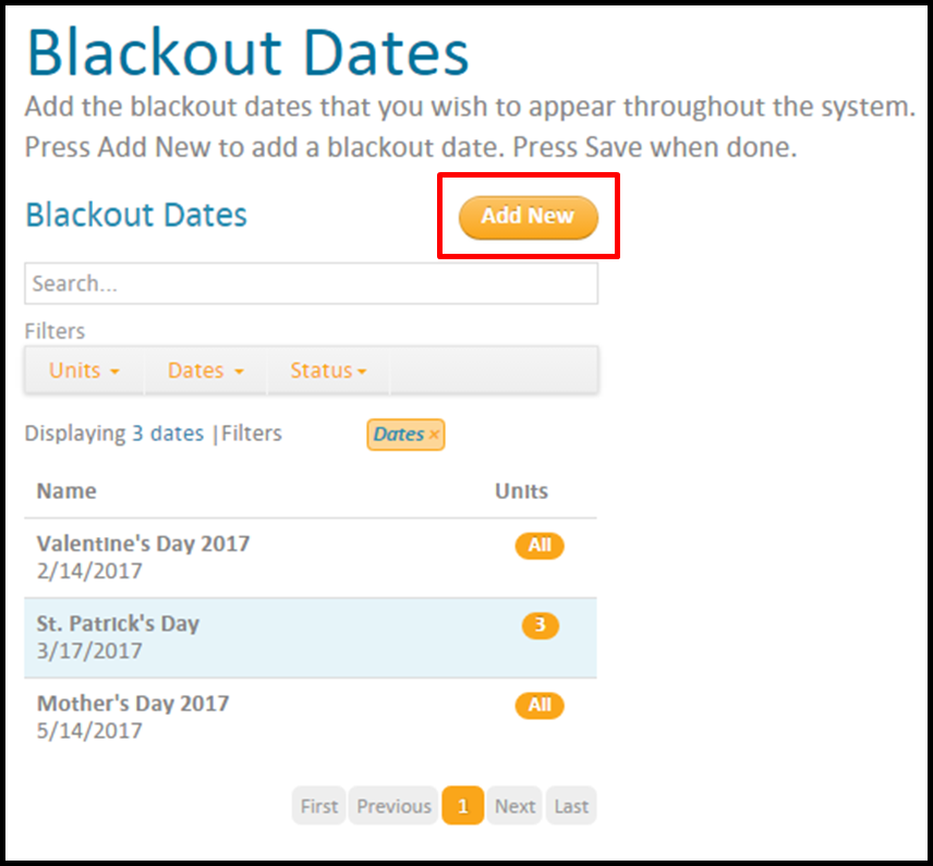 What are blackout dates