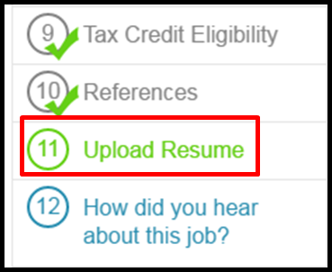 some companies allow the applicant to upload a rsum as part of the job application if this is is part of the companys job application you will see the - A Resume For A Job Application